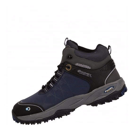 Bota Hiker Discovery Chanel Expedition 2080 Gris Azul Zapato