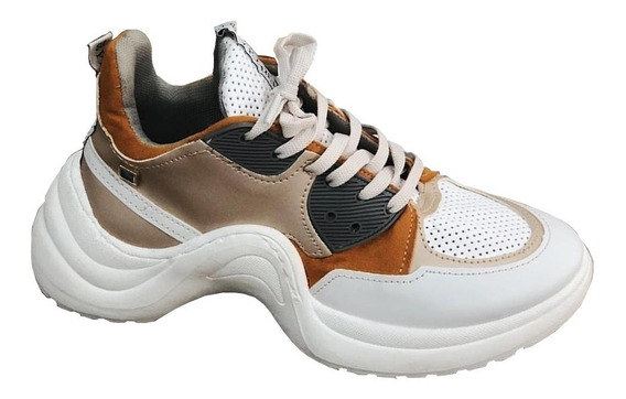 Tenis Sneaker Amarillo (ocre) Perugia