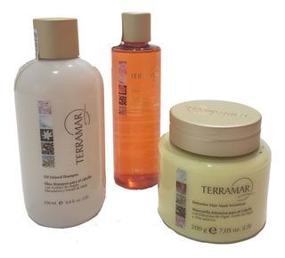 Set Terramar Oleo Rojo, Shampoo Y Mascarilla +regalo+envió
