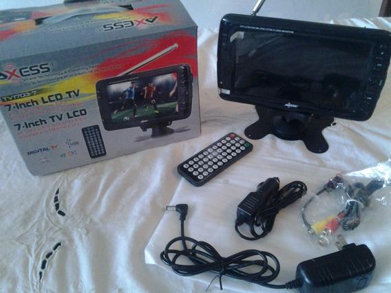 Axess Tv-1703-7 Lcd -tv A Color Portable Recargable