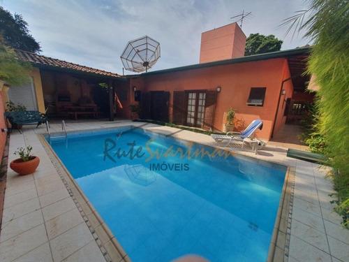 Linda Casa Térrea Com 4 Dormitórios À Venda, 254 M² Por R$ 950.000 - Cidade Universitária - Campinas/sp - Ca3657