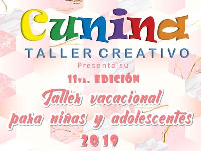 Plan Vacacional Cunina Taller Creativo Para Niñas 2019