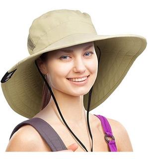 Sombrero De Sol Ancho Brim Gorro De Protección Uv Al Aire L