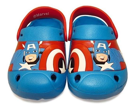 Zuecos Niño Marvel (013) * Capitan America * - Se Viene El Verano No Te Podes Quedar Sin Las Tuyas