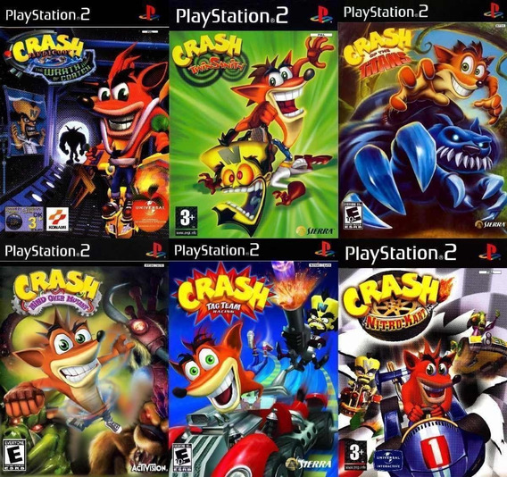 Crash Bandicoot Coleção 5 Jogos Para Ps2, Frete Gratis
