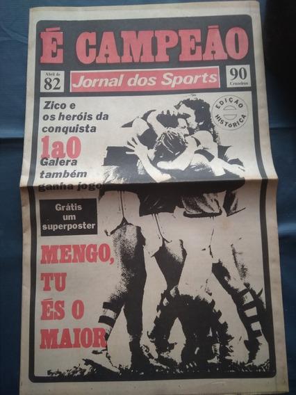 Jornal Dos Sports - Flamengo Bi Campeão Brasileiro 82