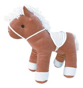 Cavalo De Pelúcia Pé De Pano Bege