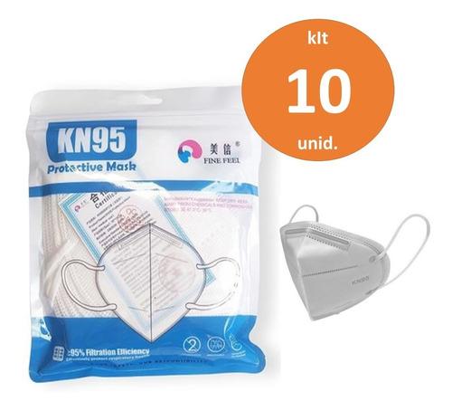 Kit 10 Máscaras N95 Respiratória Original Pff2 Proteção Kn95
