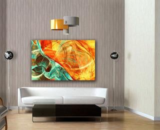 Cuadro Canvas Fondo Dinámico & Futurista Brillante 94x142cm