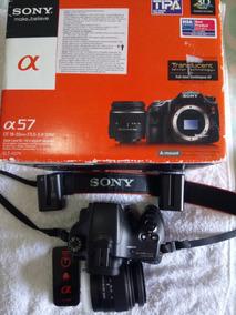 Camera Sony Alpha A57 Nova Com Nota Fiscal