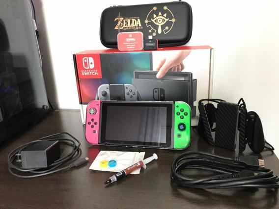 Nintendo Switch Desbloqueado 256gb Completo Comprar E Jogar