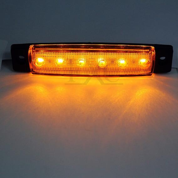 Kit 10 Lanterna Caminhão Lateral Onibus 24v 6leds
