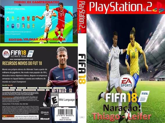 Patch Fifa 18 (patch) Ps2 + Jogo Brinde Frete Grátis!!