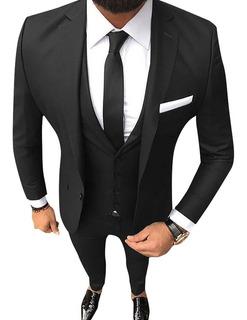 Trajes Hombre Slim Fit Con Zapatos Charol Vestir Import Usa