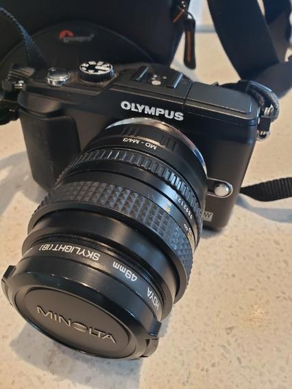 Câmera Olympus E-pl2 + 2 Lentes + 2 Baterias + Bag E Cabos
