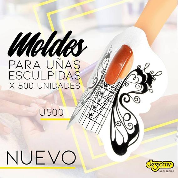 Moldes Para Uñas Esculpidas (mariposa) Rollo X 500 U500