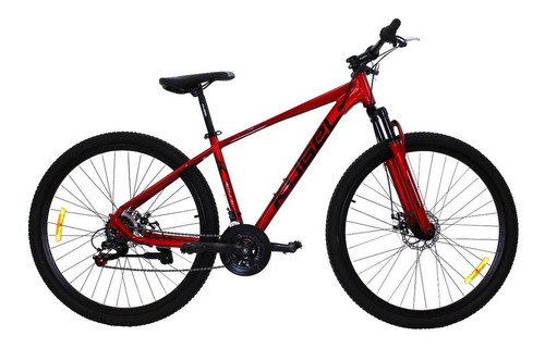 Imagen 1 de 3 de Mountain bike Kugel H-Hybrid  2020 R29 Standard 21v frenos de disco mecánico cambio Shimano Tourney TZ color rojo con pie de apoyo