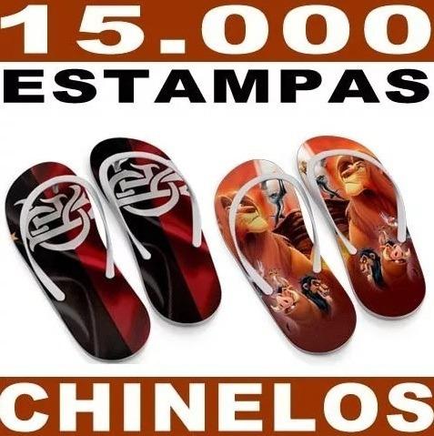 Artes Prontas Chinelos 15.000 Estampas Sublimação Gabaritos