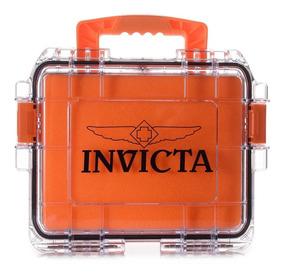 Maleta Invicta Laranja - P/3 Relogios (slots, Caixa, Tank)