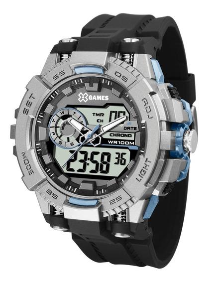 Relógio X-games Masculino Anadigi Xmppa238 Bxpx Azul