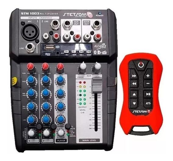 Mesa Stetsom Stm-1003 3 Canais Bluetooth Sd Fm C/ Controle