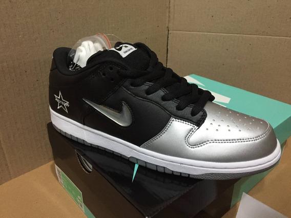 Nike X Supreme Sb Dunk Low Og Qs - Silver (tam. 43 - Us11)