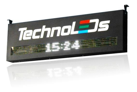 Fachada Digital Com Painel De Leds Logotipo Vazado Iluminado