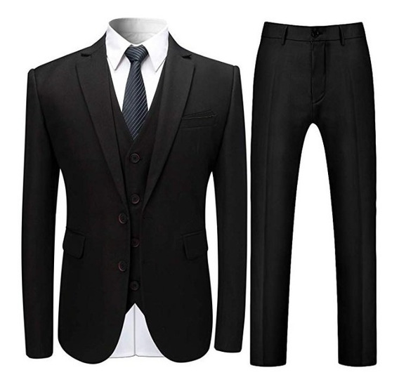 Kit Terno Slim Masculino - Calça+paletó+colete+camisa