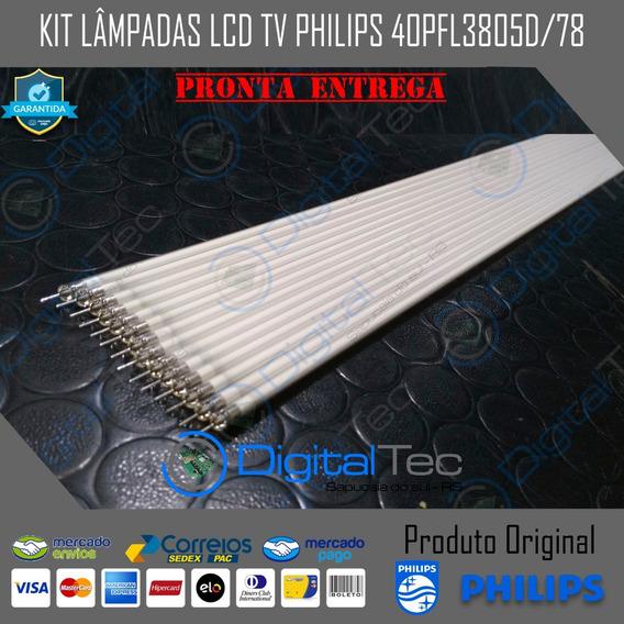 Kit Lâmpadas Lcd Tv Philips 40pfl3805d/78 Testadas 14 Peças