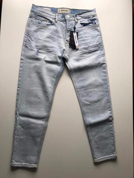 Pantalon De Jean De Hombre A Los Tobillos.