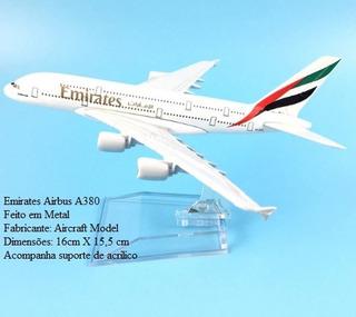 Avião Miniatura Airbus A380-800 Emirates Em Metal Promoção