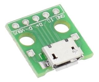 Placa Adaptador Micro Usb Hembra A Dip Pin Arduino