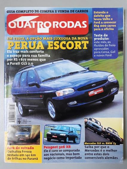 Revista Quatro Rodas 438 Janeiro 1997 Perua Escort Bmw R476