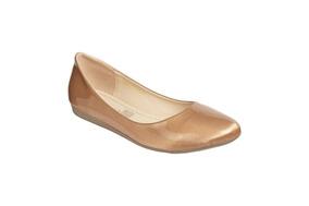 Zapato Mejillitas Flats, Piso Color Cinron Charol
