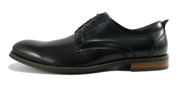 Zapatos Storkman Ramiro Cuero 7222 Chocolate 9003 Negro