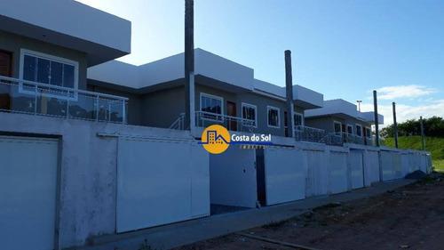 Linda Casa Com 2 Dormitórios À Venda, 74 M² Por R$ 210.000 - Extensão Do Bosque - Rio Das Ostras/rj - Ca1894