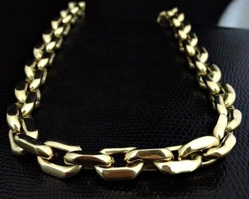 Corrente Grossa Em Ouro 18k 750 Cadeado Luxo