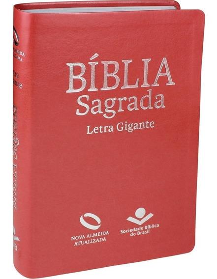 Bíblia Letra Gigante Luxo Nova Versão Com Índice Pêssego