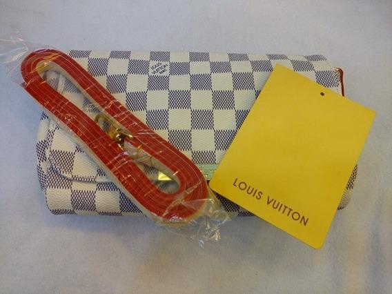 Bolsa Lous Vuitton Favorite Couro Damier Azur