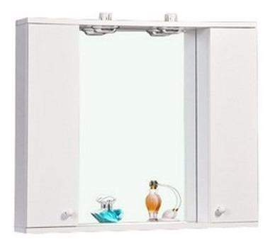 Botiquin Peinador Blanco Espejo Baño Mueble 2 Luces