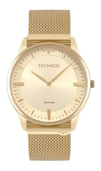 Relógio Technos Masculino Slim Dourado 9t22am/4x