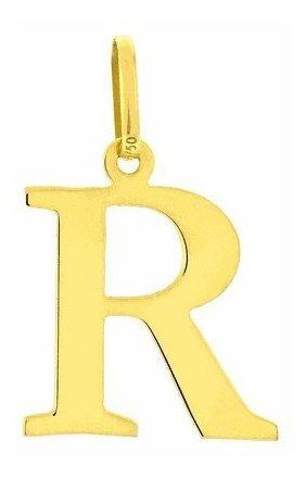 Pingente De Letra Em Ouro 18kl Frete Gratis Todas As Letras