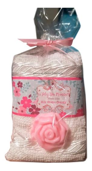 50 Piezas Kit Spa Toalla Y Jabón Etiqueta Personalizada