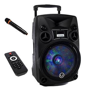Parlante 12 Karaoke Bluetooth Luces Led Rgb 3000w Con Ruedas