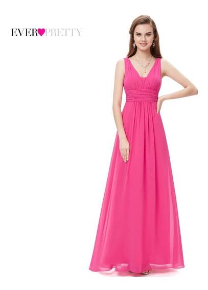 Vestido Longo Festa Madrinha Preto Pink Azull Marinho Cód 06