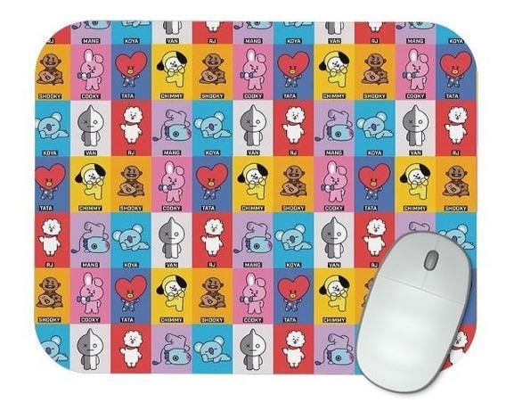 Mouse Pad Gamer Kpop Bts Bt21 - M021
