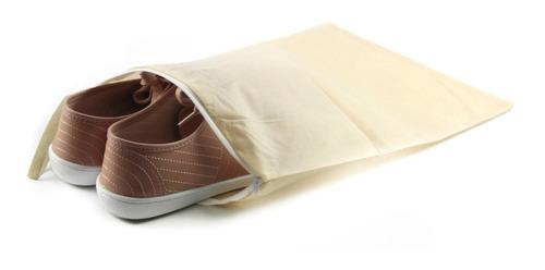 Imagem 1 de 2 de Kit 3 Porta Sapatos Protetor Saco Tnt Organizador Calçados