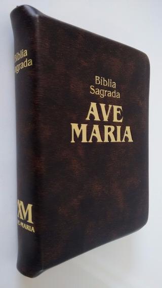 Bíblia Sagrada Ave Maria Média Zíper - Palavra De Deus
