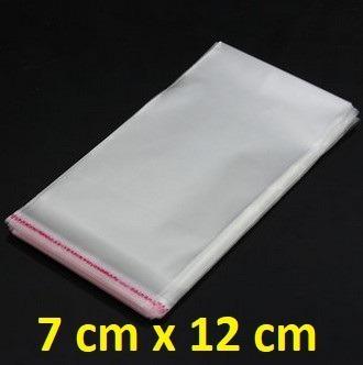 Lote 100 Saquinhos 7cm X 12cm Celofane Com Lacre Adesivo @