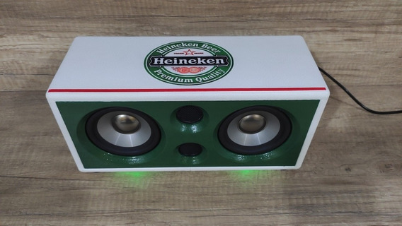 Caixa De Som Artesanal Heineken Bluetooth